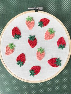 Embroidery Works, Creative Embroidery, Embroidery Thread, Cross Stitch Embroidery, Embroidery Patterns, Weavers Cloth, Cloud Decoration, Strawberry Fields, Easy Diy Crafts