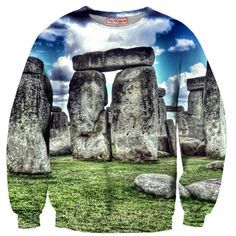 Stonehenge Sweatshirt by Yo Vogue Clothing - This beautiful sweatshirt is made using an extremely soft garment and HD Photographic Printing Technology. The fine mixture of polyester and cotton allow us to print high definition images and create unique, fresh and innovative products. Just $64.95 on yovogueclothing.com Stand out from the crowd - Yo Vogue Clothing!