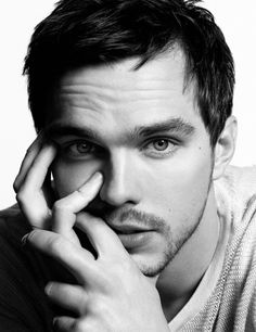 Nicholas Hoult <3 he has that dark hair see through blue eyes thing going on I am obsessed with.