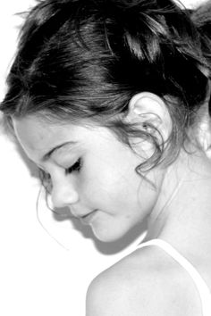 sweet close-up of beautiful girl ~ child portrait ~ black and white photography ideas ~ headshot / headshots ~ pics ~ photo session ~ shoot ~ children ~ child ~ moments i've captured ... - april allen P H O T O G R A P H Y ~ Chesapeake VA ~ Hampton Roads photographer