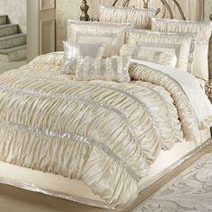 Radiance Shirred Faux Silk Comforter Bedding