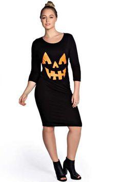 Maria Pumpkin Print Dress at @boohooofficial
