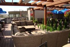 Brewsters Rooftop Patio  McKenzie Towne  With its couches and televisions, the rooftop patio at the Brewsters in McKenzie Towne is like an outdoor living room. Claim your spot and relax in the sun while enjoying a Brewsters special pizza and one of the microbrews on tap.   11 McKenzie Towne Ave. S.E., 403-243-2739, brewsters.ca