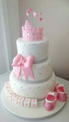 Girl baby shower cakes pretty in pink cake cakes beautiful cakes for the occasions cake babies . Torta Baby Shower, Baby Shower Cupcakes, Baby Girl Cakes, Girl Cupcakes, Cupcake Cakes, Cake Baby, Cake Girls, Purple Cupcakes, Shoe Cakes