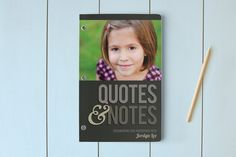Quotes & Notes Notebooks on Minted. I wish I had kept one of these every year for my kids to record all the hilarious things they say. #kids