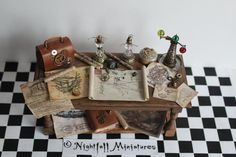 Steampunk Inventors Table in 1:12