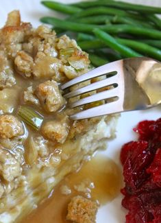 Genius Potato, Turkey and Stuffing Layered Leftovers: Better than Thanksgiving Day's Dinner!