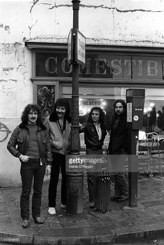 Black Sabbath in Paris, during the recording of the 'Heaven & Hell' album, 1979. The album was <a gi-track='captionPersonalityLinkClicked' href=/galleries/search?phrase=Ronnie+James+Dio&family=editorial&specificpeople=3986588 ng-click='$event.stopPropagation()'>Ronnie James Dio</a>'s first with the band.