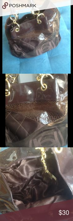 Bebe - Large Bag Bebe - Large Bag - brown with gold hardware bebe Bags