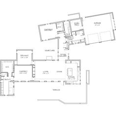 Modern Style House Plan - 2 Beds 2 Baths 2331 Sq/Ft Plan #892-8 Floor Plan - Main Floor Plan - Houseplans.com
