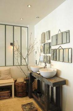 Primitive bathrooms 479351954068604793 - 465 × 502 pixels Source by sjouve Laundry In Bathroom, Small Bathroom, Master Bathroom, Neutral Bathroom, Bathroom Mirrors, Primitive Bathrooms, Bathroom Inspiration, Sweet Home, Interior Decorating