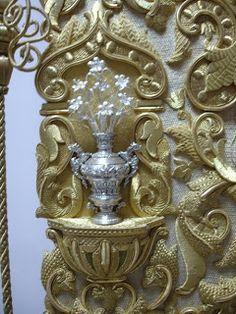 Estandarte Virgen del Rocío. Málaga. (Detalle)