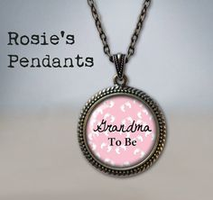 PREGNANCY REVEAL GIFT Grandma to be or Great Grandma to be by RosiesPendants on Etsy