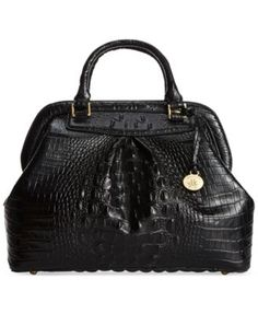 Brahmin Melbourne Bristol Satchel - B Brahmin Handbags, Brahmin Bags, Satchel Handbags, Black Satchel, Satchel Purse, Leather Satchel, Popular Handbags, Handbags On Sale, Black Leather Handbags