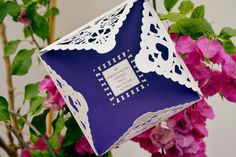 Purple Lace Wedding Invitation - Nessa & Daragh's Real Wedding by Couple Photography