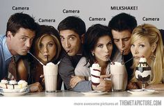 Joey doesn't share food! :-) I've seen this pic a thousand times and never noticed til now, lol
