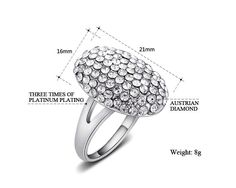2015 fashion crystal jewelry the twilight breaking dawn Bella wedding rings for women high quality