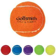 Promotional tennis ball in size, material and weight of those used in professional tournaments and associations. Features interior made of rubber with 100% polyester felt exterior. Pet Safe. Great for awards and giveaways, or to customize the pieces you use in your local tournament or club. Note: Exterior fluff is thinner than game play tennis balls to enable imprinting. Min. 11 pt. Font Required.