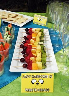 Lady Rainicorn Rainbow Fruit Kebabs