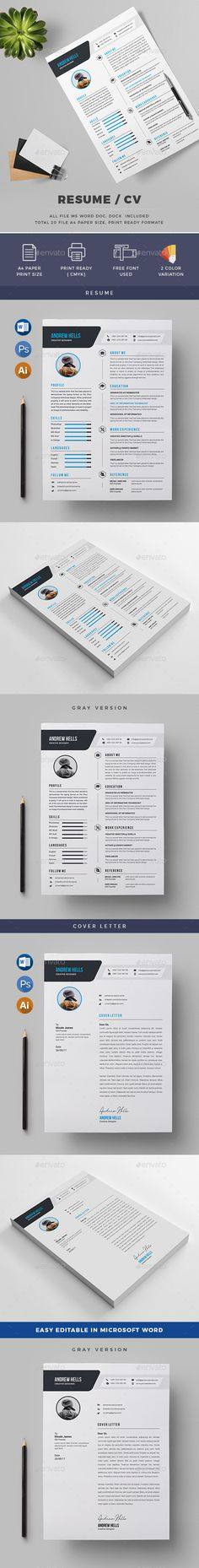 Word Resume Template, Resume ideas and Personal branding - resumedoc