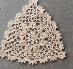 Asahi flower doily 2014 by MinjaB - issuu Crochet Bedspread Pattern, Owl Crochet Patterns, Crochet Motif, Crochet Doilies, Crochet Yarn, Crochet Triangle, Crochet Squares, Crochet Lingerie, Vintage Crochet