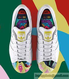 best sneakers b85c6 6355f Adidas Superstar x Pharrell Williams Supershell Blanco Todd James Graphic  en stock