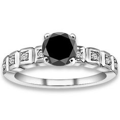 PricePointShop presents 1.00ctw Round Brilliant AA Quality Black Color Diamond with Accent Stone Black Diamonds Engagement Ring at $508.68. Appraisal Certificate Included. http://www.pricepointshop.com