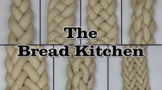 The folks at The Bread Kitchen give a demonstration showing how to create elaborate-looking braids of bread dough with three strands, then more examples up to nine strands. The techniques can be us… Challah, Bread Recipes, Cooking Recipes, Bread Kitchen, Bread Shaping, Bread Art, Braided Bread, Jewish Recipes, Bread And Pastries