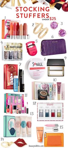 Need some ideas to stuff those stockings? Here are 25 chic beauty & style picks under $25 that are sure to please!
