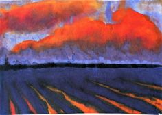 Evening Landscape North Frisia Emile Nolde