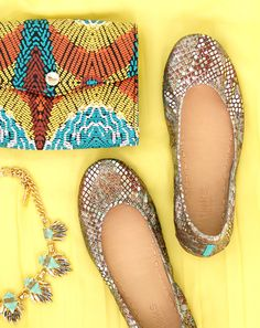 Take a walk on the wild side in Wild Copper Tieks! These flats combine lustrous gold, silver and copper surfaces to create a powerfully chic allure.