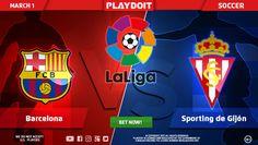 Say hello to March winning on Playdoit! Today bet on La Liga: FC Barcelona vs Real Sporting de Gijón ⚽ Register now and have lots of fun! #Playdoit #Doit
