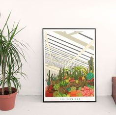 The Barbican Conservatory London  by EyeForLondonPrints on Etsy