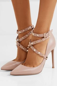 3bc32a5986cff VALENTINO gorgeous Studwrap leather pumps Valentino Rockstud Pumps,  Valentino Sandals, Ankle Strap Heels,