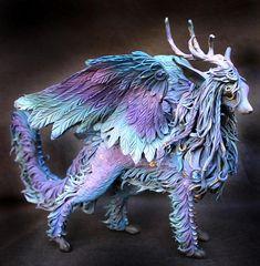 Hey, I found this really awesome Etsy listing at https://www.etsy.com/au/listing/613159149/fantasy-kirin-winged-figurine-furry