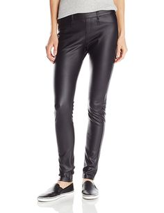 Hue Women's Coated Twill Straight Leg >>> This is an Amazon Affiliate link. Click on the image for additional details.