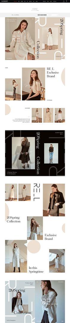 Website Design Layout, Web Layout, Layout Design, Fashion Web Design, Email Design Inspiration, Ui Web, Page Design, Banner Design, Instagram Story