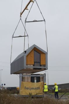 Foto's | Heijmans ONE Small Modern Home, Modern Tiny House, Tiny House Design, Prefab Modular Homes, Prefab Cabins, Modular Housing, A Frame House Plans, Tiny House Plans, Movable House