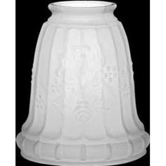 Lamp Shades Etched Glass, Replacement Shade Home Improvement