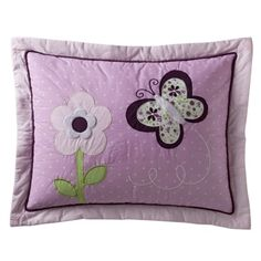 Tiddliwinks Butterfly Pillow Sham - Plum. Find bed sheets at Target.com! In this set of two pillow shams by tiddliwinks, an embroidered flower and butterfly on a plum-colored background bring nature into your kid's bedroom. Complete this look with other items from the butterfly collection.. Price: $11.99
