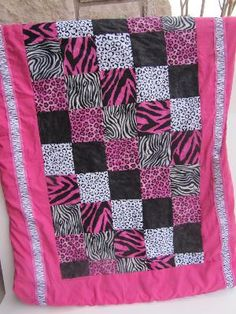 This would be a cute way to use all those pink and black animal prints I have stored up