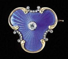 A Fabergé gold, enamel and jewelled brooch, Moscow, circa 1900