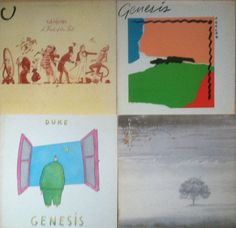 Genesis - Lot of 4_Vinyl Record LP_abacab/duke/Trick of the tail/wind wuthering