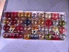 3 boxes of 12 shatterproof Martha Stewart Christmas ornaments