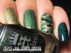 Glitter themed camo nails - great nail art tutorial- OMG YESSSSS!!!!!