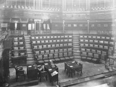 Dáil Chamber silent and empty Gone Days, Lecture Theatre, Ireland Homes, Dublin City, Old Photos, Empty, Photo Wall, Public, History