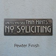 Thin Mints No Soliciting Sign Thin Mint Cookies Girl by AtlasSigns