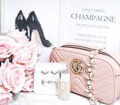 Gucci Bag || Inspo || Handtasche || Luxurybag || Luxery || Luxushandtasche || Rosa || Clinique || Foundation || Beauty