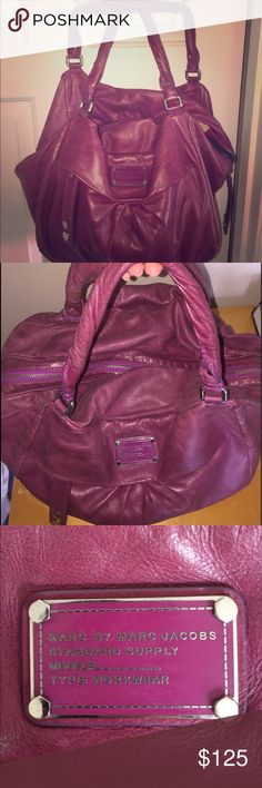 Marc by Marc Jacobs Purse Marc by Marc Jacobs Standard Supply Type: Workwear Plum/purple in color. Soft leather! Very spacious! Marc by Marc Jacobs Bags Shoulder Bags