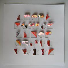 Folded Paper Letter Alphabet